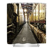 Trains Ancient Iron In The Barn Shower Curtain