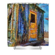 Trains Box Car Yellow Door Pa 02 Shower Curtain