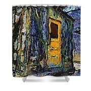 Trains Box Car Yellow Door Pa 04 Shower Curtain