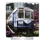 Trains Brookfield Zoo Trolley Car 141 Shower Curtain