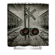Trains Crossing Shower Curtain