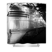 Trains Emd E5 Diesel Locomotive Bw Shower Curtain