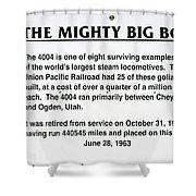 Trains Mighty Big Boy Signage Shower Curtain