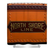 Trains North Shore Line Chicago Signage Shower Curtain