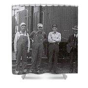Trainsmen Shower Curtain