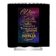 Traits Of A Pisces Shower Curtain by Mamie Thornbrue