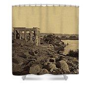 Trajans Kiosk Aka The Pharaohs Bed Shower Curtain