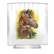 Trakehner Shower Curtain by Barbara Keith