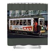 Tram 223, Graca, Lisbon, 1972 Shower Curtain