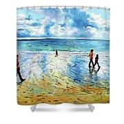 Tramore Beach Waterford Shower Curtain