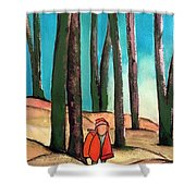 Trampling Through The Woods Shower Curtain
