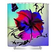 Trance Flower Shower Curtain