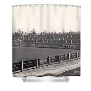 Tranmere Rovers - Prenton Park - Bebington Kop End 1 - Bw - 1967 Shower Curtain