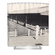 Tranmere Rovers - Prenton Park - Borough Road Stand 1 - Bw - 1967 Shower Curtain