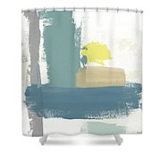 Tranquil Abstract 3- Art By Linda Woods Shower Curtain