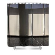 Inside Tranquil Space Shower Curtain