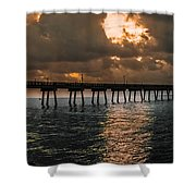 Tranquil Destination Panorama Shower Curtain