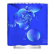 Tranquil Effervescence  Shower Curtain