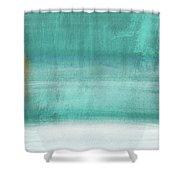 Tranquil Horizon- Art By Linda Woods Shower Curtain
