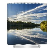 Tranquil Lake In Finland Shower Curtain
