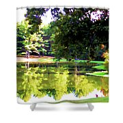 Tranquil Landscape At A Lake 1 Shower Curtain