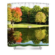 Tranquil Landscape At A Lake 3 Shower Curtain