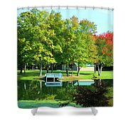 Tranquil Landscape At A Lake 4 Shower Curtain