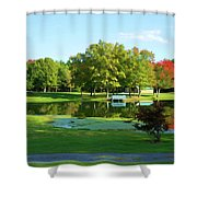 Tranquil Landscape At A Lake 5 Shower Curtain