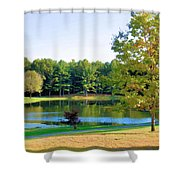 Tranquil Landscape At A Lake 6 Shower Curtain