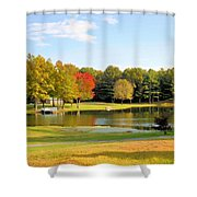 Tranquil Landscape At A Lake 7 Shower Curtain