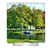 Tranquil Landscape At A Lake 8 Shower Curtain