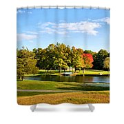 Tranquil Landscape At A Lake 9 Shower Curtain