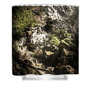 Tranquil Mountain Canyon Shower Curtain