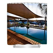 Tranquil Pool Shower Curtain
