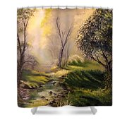 Tranquil Spring  Shower Curtain