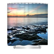 Tranquil Sunrise At Coral Cove Beach Shower Curtain