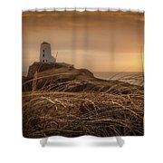 Tranquil Sunset At Llanddwyn Island - Anglesey, North Wales Shower Curtain
