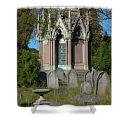 Tranquil Tomb Shower Curtain