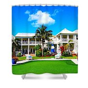 Tranquility Bay West View Shower Curtain