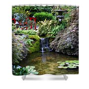 Tranquility In A Japanese Garden Shower Curtain