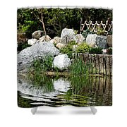 Tranquility In The Japanese Garden Shower Curtain