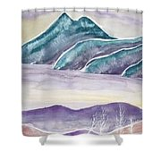 Tranquility Landscape Mountain Surreal Modern Fine Art Print Shower Curtain