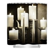 Tranquility Of Candlelight Shower Curtain