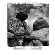 Tranquility Rocks Buddhist Monastery Carmel Ny  Shower Curtain