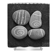 Tranquility Stones Shower Curtain by Linda Woods