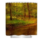 Tranquility Stream - Allaire State Park Shower Curtain
