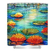 Tranquility V  Shower Curtain