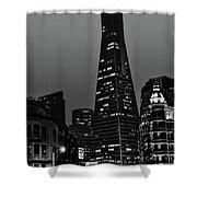 Trans American Building At Night Shower Curtain