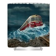 Trans Europe Express Shower Curtain