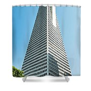 Transamerica Pyramid In San Francisco, California Shower Curtain